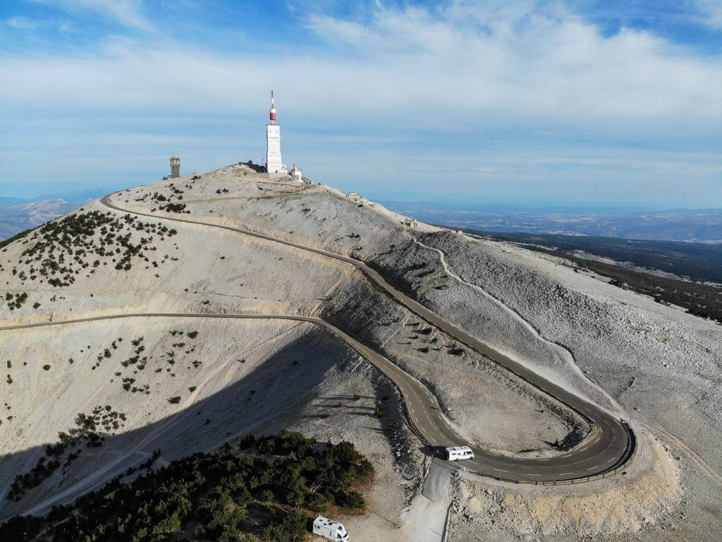 Aerial shot of Ventoux with Marmot Tours