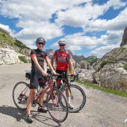 All smiles on the Marmot Tours Dolomites classics road cycling holiday