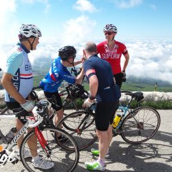 Celebrating at the summit of Ventoux with Marmot Tours