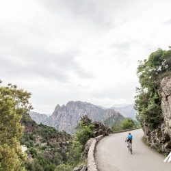 Climbing the Col de Bavella - the highest road on the island with Marmot Tours on the Raid Corsica