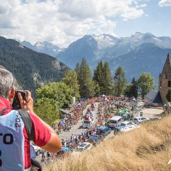 Dutch Corner on Alp d'Huez with Marmot Tours road cycling holidays_