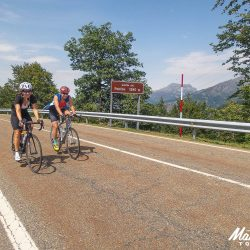 Enjoying the flat sections on the Marmot Tours Picos road cycling holiday