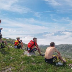Enjoying the views from the summit of the Gamoniteiro with Marmot Tours