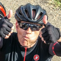 Its all thumbs up on the Marmot Tours classic cols of the Picos road cycling holiday