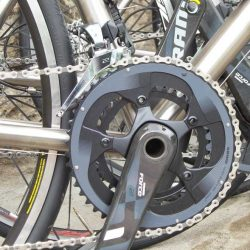 SRAM Force 22 crank on the Marmot Tours Titanium hire bikes