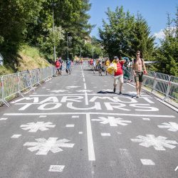 Marmot Tours road paintings on Alpe d'Huez