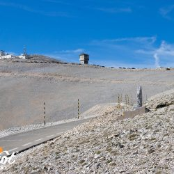Pausing to pay respects at the Tom Simpson memorial on Ventoux with Marmot Tours