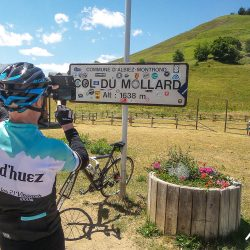 Photo of the Col du Mollard sign on the Marmot Tours classic cols of the alps road cycling holiday in france
