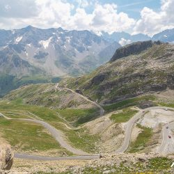 Photo of the Galibier from the summit on the Marmot Tours classic cols of the alps road cycling holiday