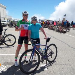 Posing at the top of Ventoux with Marmot Tours