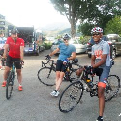 Preparing to start the day with Marmot Tours on the Picos road cycling holiday