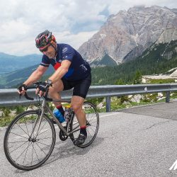 Smiling and climbing in the Dolomites with Marmot Tours