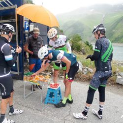 Snacks on the Croix de Fer with Marmot Tours in the French Alps