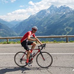 Spectacular scenery on the Marmot Tours classic cols of the alps road cycling holiday