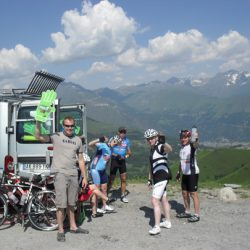 Marmot Tour de France Road Cycling Holiday - Van support