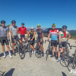 Group photo on the Marmot Tours classic cols of the Picos road cycling holiday
