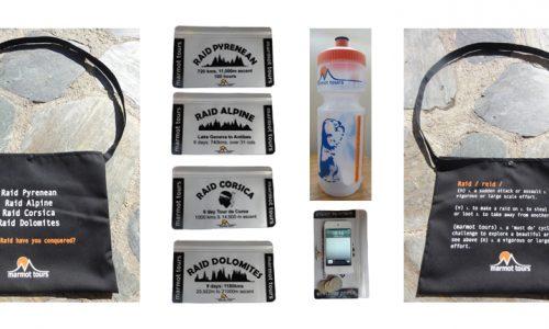 Marmot Tours Raid Cycling Challenge Freebie Merchandise