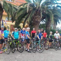 Another group waiting to start the Marmot Tours Raid Sardinia