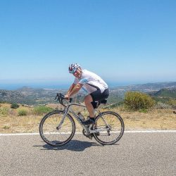 Approaching the coast on the final day of the Marmot Tours Raid Sardinia