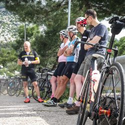 Riveting conversation on the Marmot Tours Raid Sardinia road cycling holiday