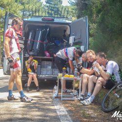 Sampling the snack selection in Sardinia Italy with Marmot Tours on the Raid Sardinia