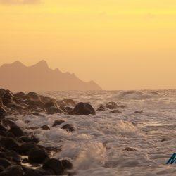 Waves at sunset, Gran Canaria