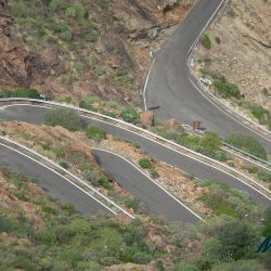 Hairpin turns on Valley of Tears, Gran Canaria