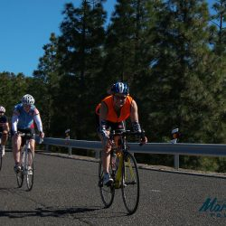 Happy cyclists, empty roads, Gran Canaria