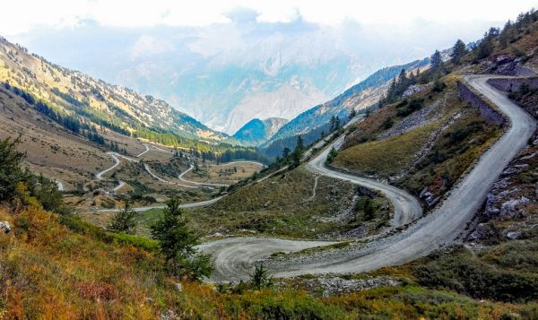Colle Delle Finestre overlooking Susa