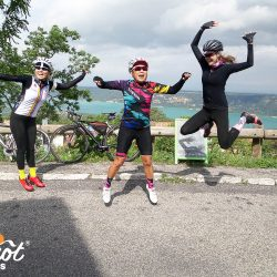 Jumping for joy on the Ventoux and Verdon gorge road cycling holiday with Marmot Tours