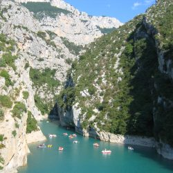 Verdon Gorge in Provence visited on the Marmot Tours road cycling holiday