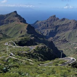 View from the Casas de Araza down to Masca. Day 5 of the Marmot Cycling Holiday in the Canaries.