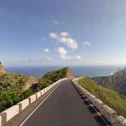 Amazing view down to the coast on the TF134 during a Marmot Tours Cycling Holidays in Tenerife.