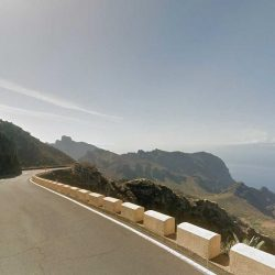 Cycling on the TF436 near Macizo de Teno in Tenerife during the Marmot Tours cycling holiday