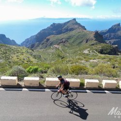 Heading towards masca on the Tenerife Classics road cycling holiday with Marmot Tours