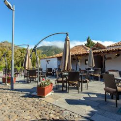 Terrace of the Hotel La Casona del Patio in Santiago del Teide. Night 4 and 5 of the Marmot Tours cycling holiday in Tenerife.