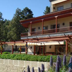 The gardens of the Hotel Spa Villalba in Vilaflor. Start and end hotel of the Marmot Tours Road Cycling Holiday in Tenerife.
