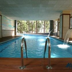 The swimming pool of the Hotel Spa Villalba in Vilaflor. Start and end hotel of the Marmot Tours Road Cycling Holiday in Tenerife.