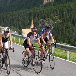 Happy Cyclists on Marmot Tours Dolomites Minibreak