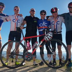 Cyclists fighting Cancer fundraising during the Raid Sardinia