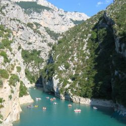 Verdon Gorge with its blue/green waters far below