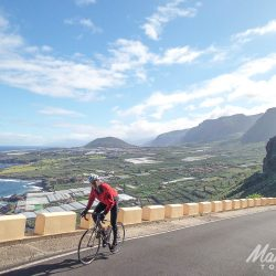 Plantations and industry on the West coast of the island on the Tenerife Classics road cycling holiday with Marmot Tours