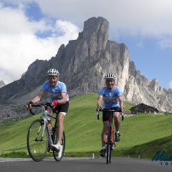 Cycling under the shadow of the magnificent Tre Cime
