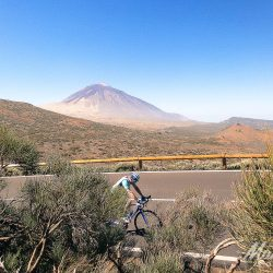Teide in the background on the Tenerife Classics road cycling holiday with Marmot Tours