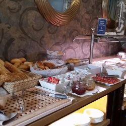 Breakfast buffet of the Hotel La Casona del Patio in Santiago del Teide. Night 4 and 5 of the Marmot Tours cycling holiday in Tenerife.