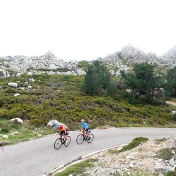 Duo climbing in Sardinia with Marmot Tours
