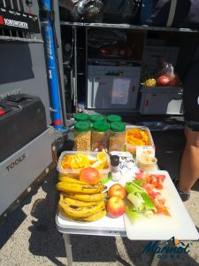 Fruit and snacks on a Marmot Tours road cycling holiday in Sardinia