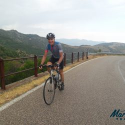 Monte Albo road cycling climb with Marmot Cycling Tours