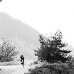 Cyclist on the Col de Chaussy in the French Alps - Photo by Gavin Savage (Marmot Tours)
