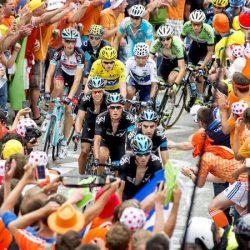 Tour de France on l'Alpe d'Huez climb